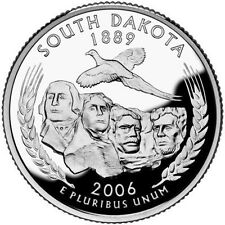 2006 S SILVER GEM PROOF SOUTH DAKOTA STATE QUARTER 90% SILVER