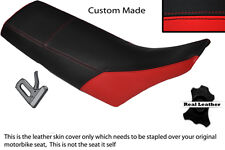 BLACK & RED CUSTOM FITS YAMAHA TW 125 200 LEATHER DUAL SEAT COVER