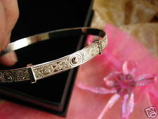 ADULTS TEENAGERS SOLID SILVER BRACELET BANGLE CELTIC 925 expanding