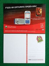 4926 Advertising Pubblicita' Cartolina Card 15x10 cm - SONY ERICSSON F500