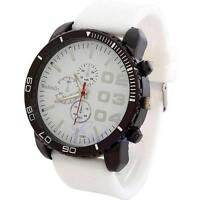 Fashion Men's Big Dial Silicone Rubber Band Sport Analog Quartz Wrist Watch New