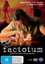 Factotum (DVD, 2007) Charles Bukowski -  Brand new, Genuine & Sealed  R4 - D100