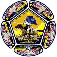 2013 National Boy Scout Jamboree Pee Dee Area Council 6-Patch Complete Set