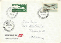 Maritime Mail Cover Posted On Board MS Royal Viking Star 13 Nov 1972 U721