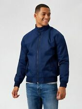 BURTON MENSWEAR LONDON Mens Blue Harrington Jacket Recycled Polyester Outwear