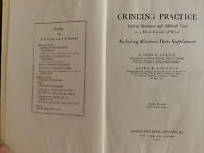 Vintage ~ 1943 ~ Grinding Practice by Colvin and Stanley Illustrated Hardcover