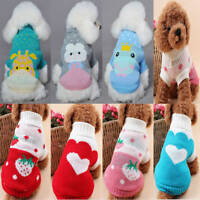 New Pet Dog Cat Knitwear Jumper Sweater Puppy Warm Coat Costume Apparel Clothes
