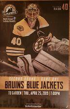 2019 Boston Bruins Playoff Poster