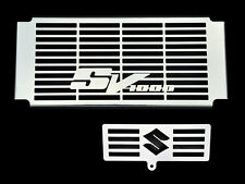 SV1000 SUZUKI SV 1000 S / N 2003-08 STAINLESS RADIATOR COVER w/ OIL COOLER GRILL