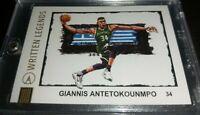 *RARE* Giannis Antetokounmpo Written Legends artist signed #'d 16/25 NBA PSA?