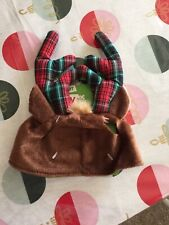 Time for Joy Holiday Reindeer Antlers Hat Cap for Cats One Size Christmas NEW