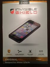 Zagg Invisibile Shield Original - Iphone 5 5s 5c Screen Protector Protection NEW