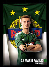 Mario Pavelic Autogrammkarte Rapid Wien 2016-17 Original Signiert+A 144570