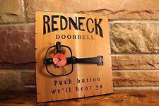 Redneck Doorbell Carved Cedar Novelty Sign Gift Decor Funny Signs Plaques Door
