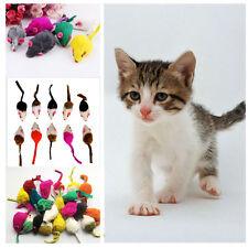 10Pcs/lot Soft Rabbit Fur False Mouse Toys For Cats Random Colors