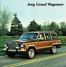 1985 Jeep Grand Wagoneer NOS Dealer Sales Brochure