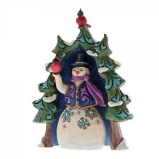 Jim Shore Christmas SNOWMAN AND TREE Mini Set/2 - Schneemann