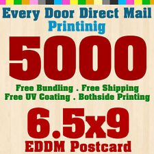 "5000 Every Door Direct Mail Postcard Printing Size 6.5""x9"" - 14pt Card Stock UV"