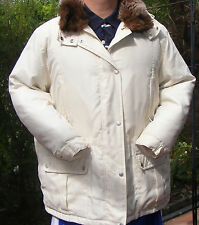 Ralph Lauren Womens Down Modern Cream Puffy Coat Jacket Size 2X Off White