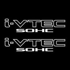 [#36] 2x White i-VTEC SOHC Vinyl Decal Stickers Emblem Honda Acura ivtec