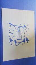 Schablonen 217 Vogelkäfig Vintage Stanzschablone Shabby Stencil Wandtattoos Wand