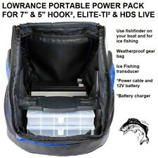 "LOWRANCE PORTABLE POWER PACK FOR 7"" & 5"" HOOK², ELITE-TI² & HDS LIVE"