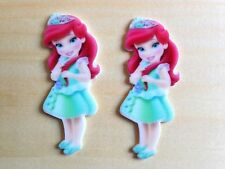 Disney Princess Ariel Toddler Flat Back Resin-Cabochon-Plastic-Hair Bow Center