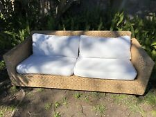Woven Rattan Wicker Outdoor Lounge Sofa