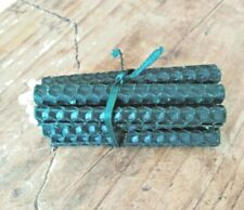 """BEESWAX BIRTHDAY CANDLES 10 X 3"""" GREEN OTHER COLOURS AVAILABLE. FREE DELIVERY"""