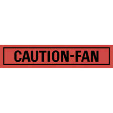 Caution Fan Decal - Ford/Mercury 60-47185-1