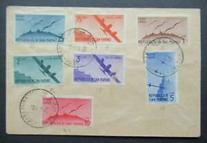 1946 AIRMAIL COVER FROM SAN MARINO WITHOUT ADDRESS ITALY B354.16 START $0.99
