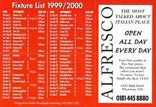Fixture List - Barnet 1999/2000