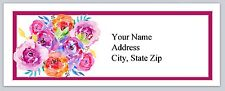 30 Personalized Address Labels Flowers Buy 3 get 1 free (ac 938)