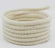 5mm Natural Cotton Rope 8 Strand Braided Long Twisted Cord Twine Sash Accessory Beige 2m