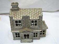Vintage Cast Iron Farm House Building Dime Still Bank Home Toy Penny Coin B