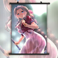 Final Fantasy VII FF7 Aerith HD Canvas Wall Poster Scroll Room Decor