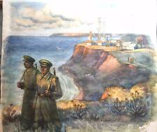"Original watercolor on paper ""USSR 16th Fountain in Odessa"" Kovalchuk"