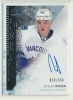 2013-14 SP Authentic Future Watch Rookie AUTO 286 Nicklas Jensen /999 Canucks