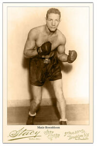 MAXIE ROSENBLOOM Boxing Legend & Movie Star Cabinet Card Vintage Photo CDV RP