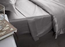 Jasmine Silk Pure Silk Flat Sheet (Grey) - DOUBLE