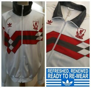 ADIDAS ORIGINALS LIVERPOOL TRACK JACKET Size XXL Mens Tracksuit Top rare white