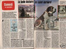 Coupure de presse Clipping 1985 La belle histoire du Saint Bernard  (2 pages)