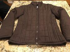 KC Collections Women's Brown Puffer Coat Jacket Size Medium