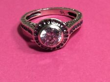 """Silpada R2076  Sterling Silver CZ Hammered """"Perfect Bliss"""" Ring (R34)  Size 7.75"""