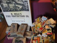 Lot Vintage Matchbooks NO Matches Boxes H. Bell's Fire Protection Co Match Album