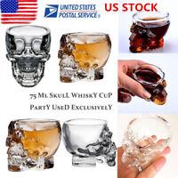 Crystal Skull Head Clear Whiskey Shot Glass Cup Drinking Ware Home Mug Barware