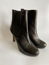 Clarks Black Leather Snake Kendra August High Heel Platform Boots UK6 40 NEW