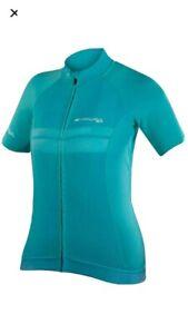 Endura Pro SL Womens Short Sleeve Jersey Pacific Blue Size S RRP £74.99 UK