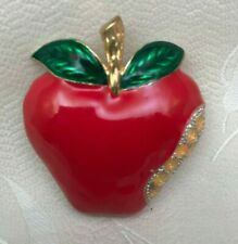 Pin - New Last One! Red Apple for the Teacher Brooch/