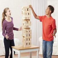 Giant Jumbling Tower Picnic Game 51 Wood Blocks Families Kids ages fun outdoor